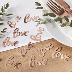 Rose gold love table scatter confetti wedding hen party accessories image is loading rose gold love table scatter confetti wedding hen junglespirit Choice Image