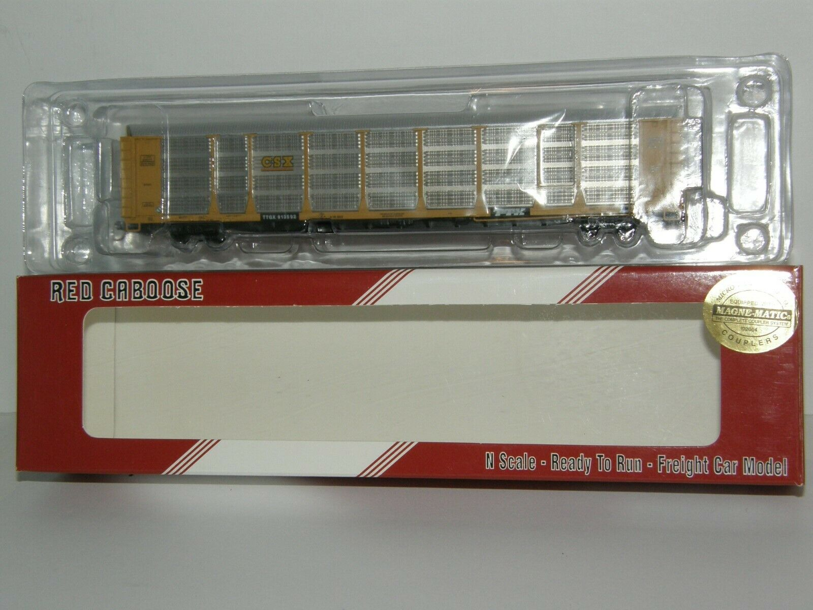 rot CABOOSE N scale CSX AUTO RACK