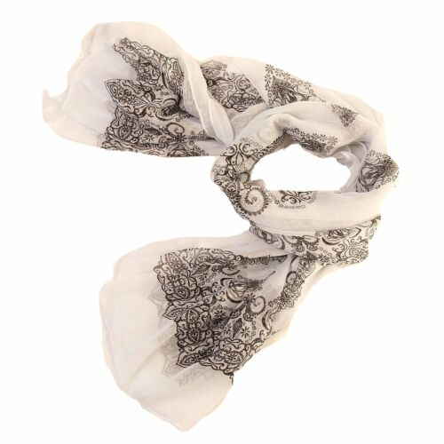 Ladies Womens Light Weight  Summer Scarf  Circle Print Design 2 Colours