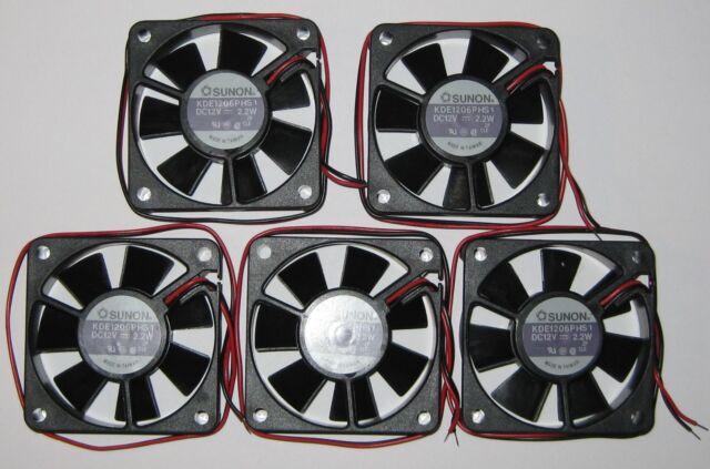 12 V KDE1206-12VDC 2 X Sunon 60 mm High Speed Cooling KDE Fan 18CFM 31dB