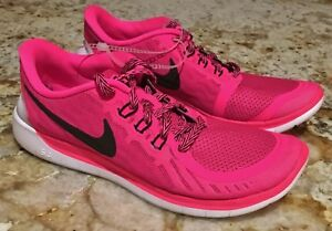 11e4297c2c90 Details about NEW Youth Girls Sz 5.5 6.5 NIKE Free 5.0 Vivid Pink Pow Black Running  Shoes