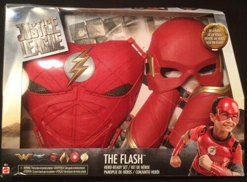 DC Justice League Flash Hero-Ready Costume Masque /& Tour de poitrine 2 poignet Gantelets Mattel