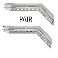 45° Angled Chrome Mud Flap Hanger - 2 - 1/2 Bolt Pattern