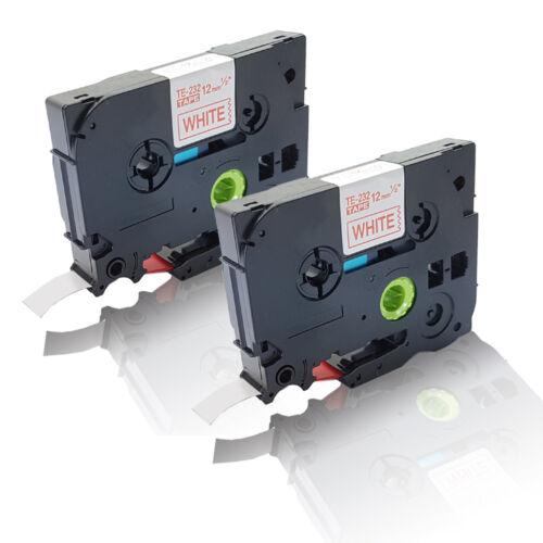 2x Austausch kompatible Schriftbänder für Brother P-Touch E 100 TZE 232 red Eco
