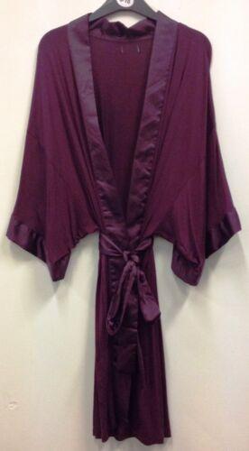 WOMENS JERSEY KIMONO DRESSING GOWN//ROBE UK SIZES 8-20 s01