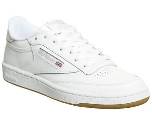 58a1032d0ac Womens Reebok Club C 85 Trainers White Grey Gum Trainers Shoes
