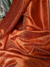 "1M RED /gold COLOUR small floral Chinese Brocade Fabric Shiny Silky,  45""wide"