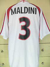 PAOLO MALDINI AC MILAN ITALT CALCIO 2002 01 ADIDAS SOCCER JERSEY SHIRT MAGLIA L