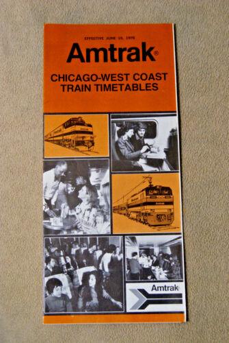 Amtrak 1976 Chicago-West Coast Timetables June 15