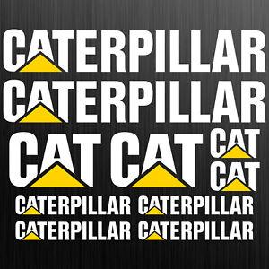 Caterpillar-CAT-XXL-aufkleber-sticker-bagger-excavator-10-Stucke-Pieces