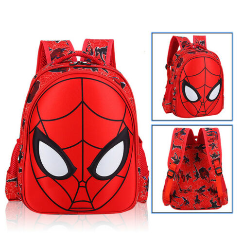 3D Spiderman Red School Bag Backpack Three Size For Boys Kids Children Gifts