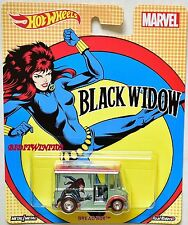 HOT WHEELS  POP CULTURE 2017 MARVEL BREAD BOX - BLACK WIDOW
