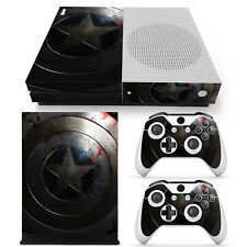 XBox One S Console and Controller Skins -- Captain America Shield (XS-0987)