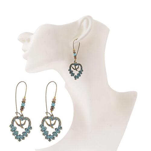 Vintage Women Fan Shape Vintage Bohemia Earrings Ear Studs Evening Party Earring