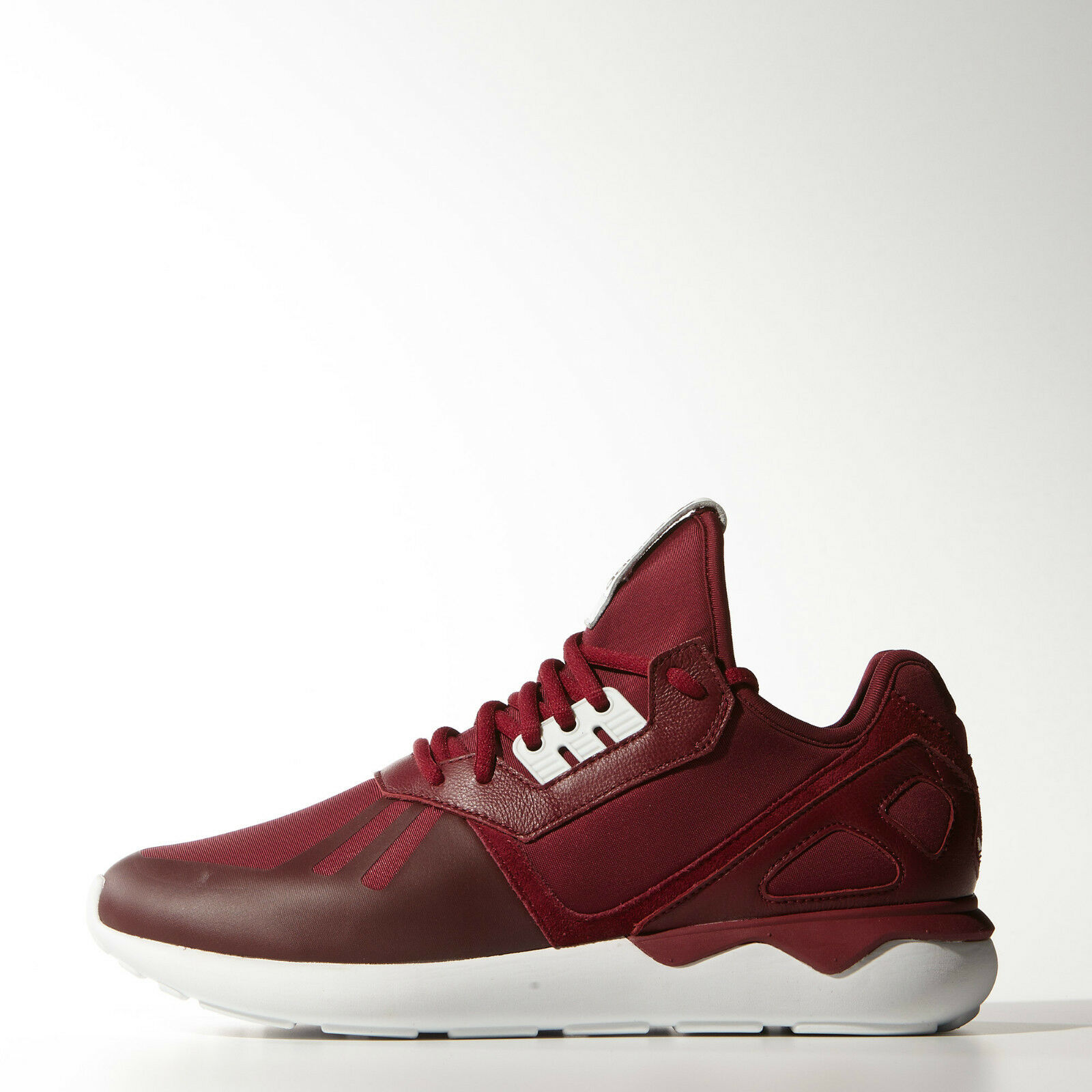 Adidas Originals Tubular Runner Mens Claasic Trainers shoes Burgundy White