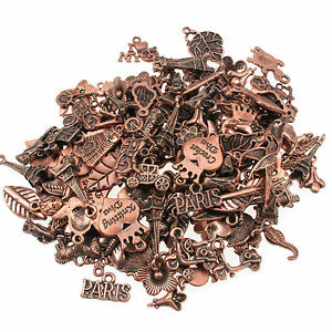 75g Gorgeous Mixed Charms Copper Colour Beads For