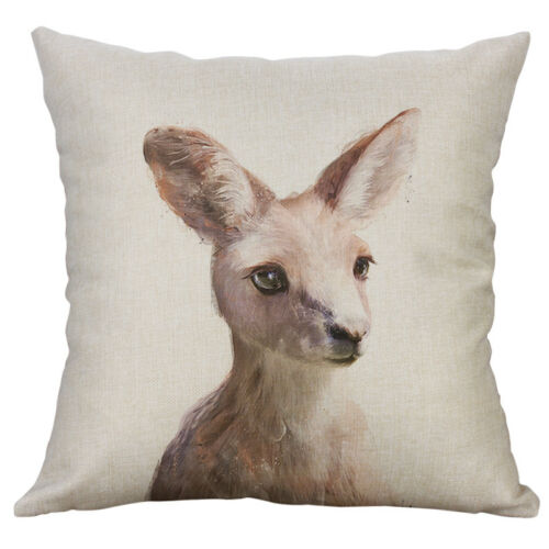Cute Animal Pattern Cotton Linen Home Decorative Pillow Case Cushion Cover NEW