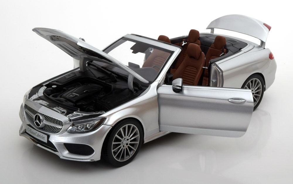 Iscale 2016 Mercedes Benz C Klasse A205 Cabrio Silbern Händler Ed 1 18 Neu
