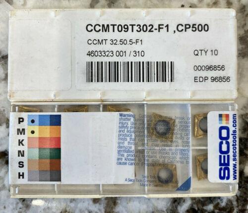 Seco Carbide Inserts  CCMT 32.50.5 F1 CP500 CCMT 09T302 F1 CP500 10 inserts