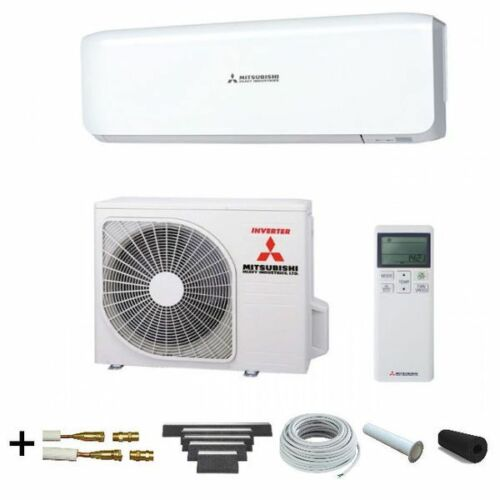 "2,5 kW /""ready to install/"" Set 5m Boden Klimaanlage Mitsubishi SRK 25 ZS-W Set"