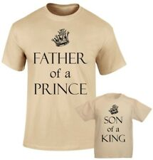 a8d9a671b Father of a Prince Son of a King Royal son and Father Family Matching T  shirts