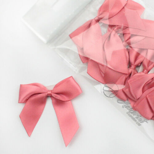 Satin 16mm Ribbon SelfAdhesive Bows 5cm Wide Pack of 12 Crafts Wedding