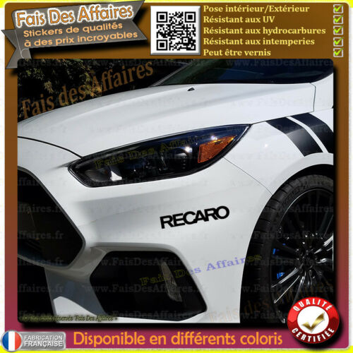 2 Stickers Autocollant Recaro sponsor tuning rallye