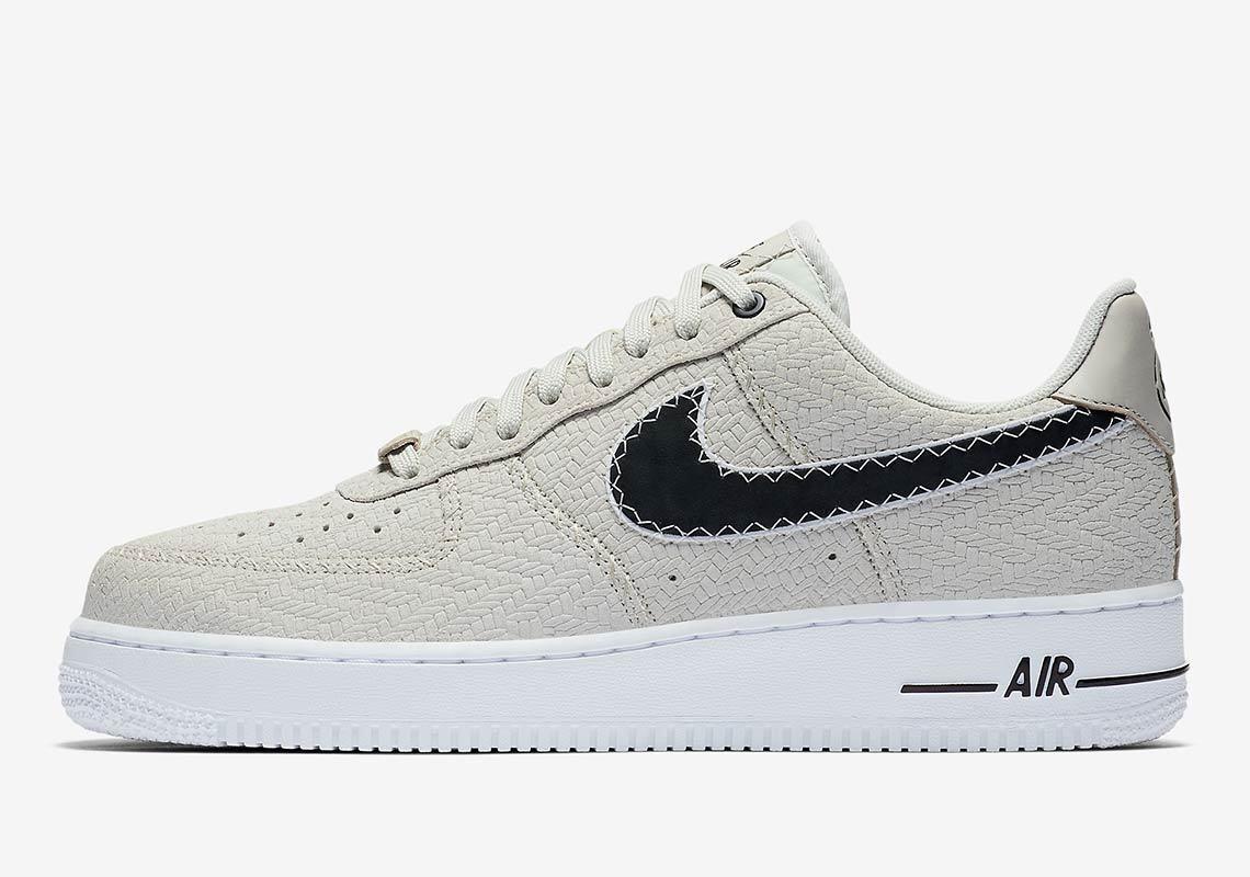 Nike air force 1 grau 1 niedrige n7 leichte knochen grau 1 - schwarz von weiß ao2369-001 sz 8,5 d91373