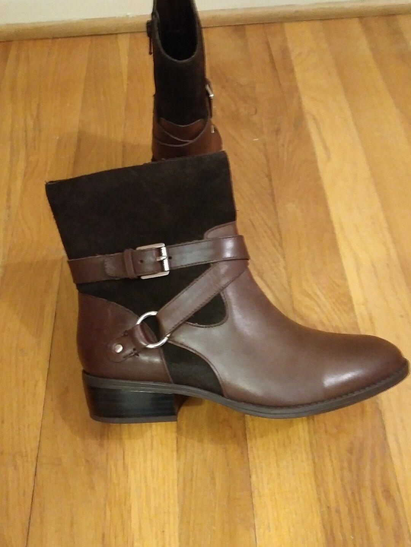 New Women's Ralph Lauren Makalia Bootie-Sz 6- Brown Leather & Suede-Beautiful