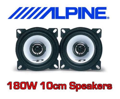 """ALPINE 180W 2WAY 10cm/4"""" SXE CAR DOOR SHELF SPEAKERS"""