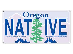 Oregon-Native-License-Plate-Bumper-Sticker