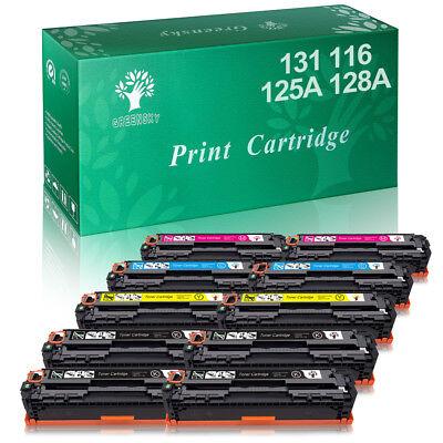 10Pack Toner Cartridge CF210X 131X For HP Laserjet Pro 200 M251 M251nw M276nw
