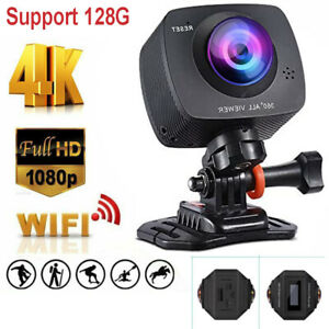 Native Wifi 4K Ultra HD Sport Action Camera Waterproof Camcorder Double Lens USA