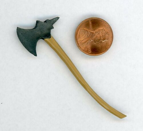 Miniature Dollhouse Metal Battle Axe   240