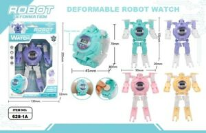 Cartoon-Transformer-Robot-Watch-Wristwatches-Deformable-Kids-Figure-Toys-FAST-PP