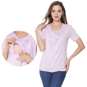 2eef36b241319 Image is loading Summer-Maternity-Clothes-Breastfeeding-Tops-Nursing-T- shirts-