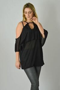 SIMPLY-BE-Black-Strappy-Cami-Party-Top-with-Keyhole-Front-RRP-24