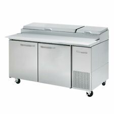 Blue Air Bapp67 Hc 67 Two Doors Refrigerated Pizza Prep Table 9 Pan