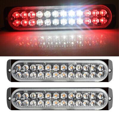 2X Red//Red 6 LED Car Truck Emergency Beacon Warning Hazard Flash Strobe Lights