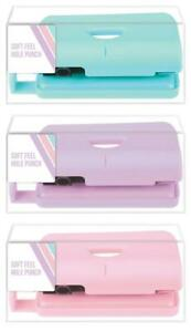 Soft-Feel-Paper-2-Hole-Punch-Pastel-Office-Desk-Stationery-Blue-Pink-Purple