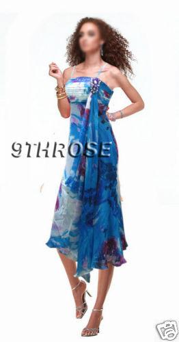 ADORABLE COCKTAIL//PARTY DRESS WITH PLEATS /& RHINESTONES; BLUE PRINTS; AU 8//US 6