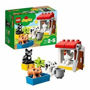 Lego-10870-Duplo-Ville-Animaux-Ferme-Construction-Briques-educatifs-set-avec-noir