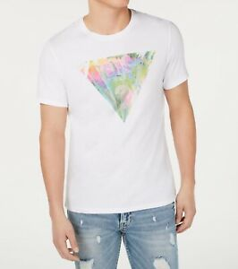 Guess-Mens-T-Shirts-Off-White-Size-2XL-Logo-Printed-Graphic-Tee-34-114