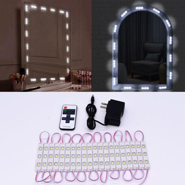 20 Led Lights Strip Kit For Cosmetic Makeup Vanity Mirror Remote