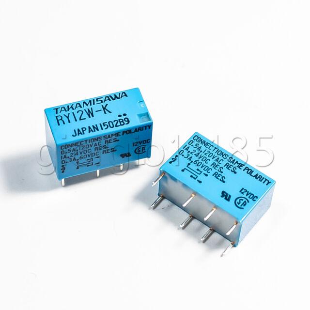 4 pcs TAKAMISAWA RY12W-K 2C DPDT Signal Relay For Audio