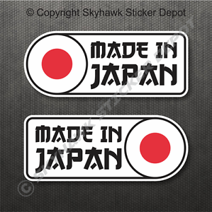 Made-In-Japan-Flag-Bumper-Sticker-Vinyl-Decal-Japanese-Car-JDM-Sticker-For-Honda