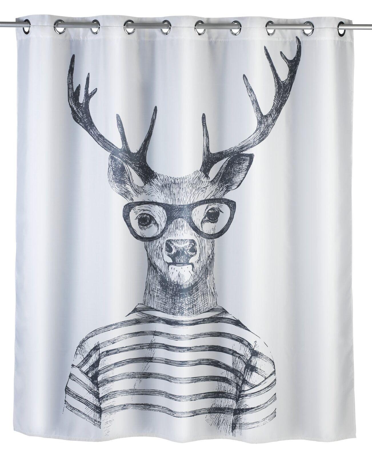 Wenko Wenko Wenko  Comfort flex - Mr. Deer  Shower Curtain, Multi-Colourot, 180 x 200 x 1 cm 3e18a8