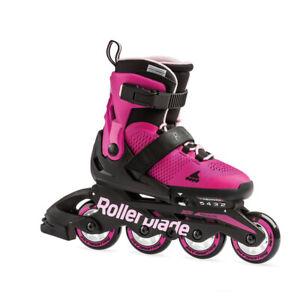 Rollerblade Microblade Junior 4 Wheel Inline Skates | Adjustable sizing for Kids