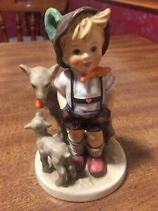 Vintage-Hummel-Goebel-034-Little-Goat-Herder-034-200-1-TMK-4-Measures-5-25-034-Tall