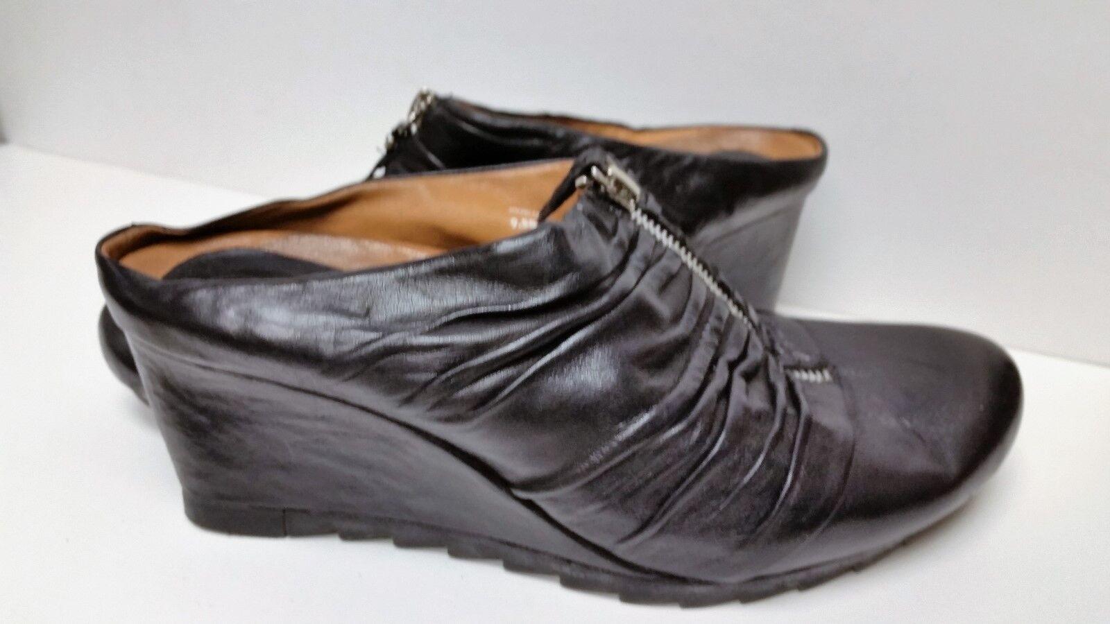 esclusivo Earthies donna US US US 9.5 nero Wedge Heel Soft Leather  CUTE   risparmia fino al 70% di sconto